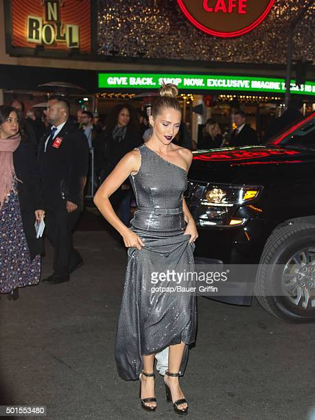 Teresa Palmer is seen arriving to the 'Point Break' Premiere at TCL Theatre on December 15 2015 in Los Angeles California