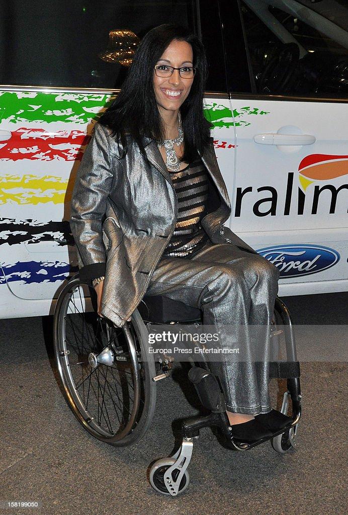 Teresa Perales arrives at 'As Del Deporte' Awards 2012 on December 10, 2012 in Madrid, Spain.
