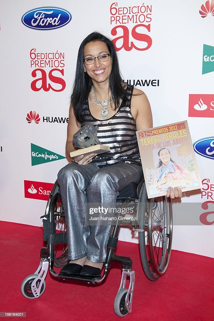 Teresa Perales attends 'As del Deporte' awards 2012 at Palace Hotel on December 10, 2012 in Madrid, Spain.