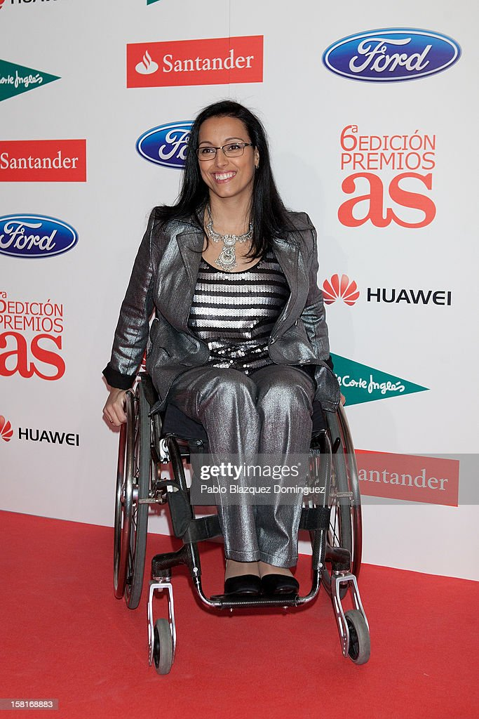 Teresa Perales attends 'As Del Deporte' Awards 2012 at The Westin Palace Hotel on December 10, 2012 in Madrid, Spain.