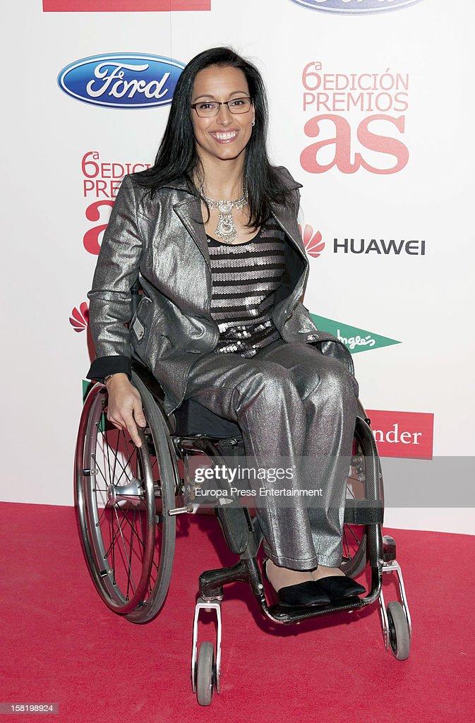Teresa Perales attends As Del Deporte' Awards 2012 on December 10, 2012 in Madrid, Spain.
