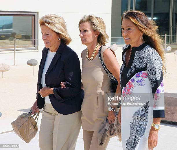 Teresa Samaranch attends the funeral for the Spanish designer Manuel Pertegaz on August 31 2014 in Barcelona Spain