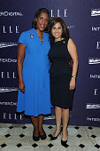 Teresa Younger and Neera Tanden attend a reception hosted by ELLE EditorinChief Robbie Myers and Center for American Progress President Neera Tanden...