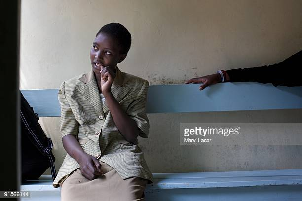 Teresia Kerempe waits inside the Tasaru Safehouse for Girls for a counselor to accompany her to her parents house where she will be reconciled with...