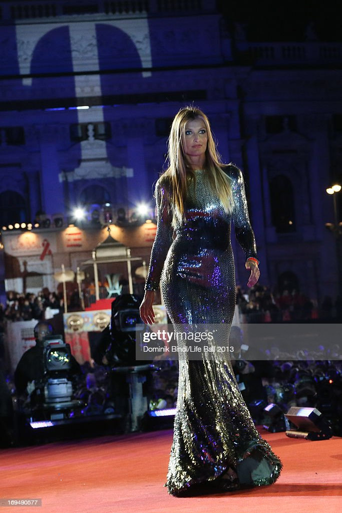 Tereza Maxova walks the catwalk during the fashion show at the 'Life Ball 2013 - Show' at City Hall on May 25, 2013 in Vienna, Austria.