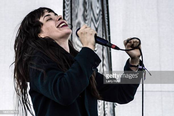Teri Bender Gender performing with 'Bosnian Rainbows' at May Farms in Byers Colorado on September 21 2013