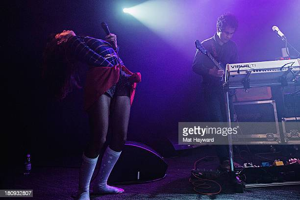 Teri Gender Bender and Omar Rodriguez Lopez of the Bosnian Rainbows perform on stage at the Crocodile on September 17 2013 in Seattle Washington