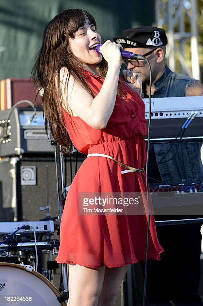 Teri Gender Bender of Bosnian Rainbows performs as part of C2SV Music Festival Day Three at St James Park on on September 28 2013 in San Jose...