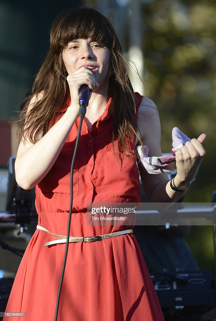 Teri Gender Bender of Bosnian Rainbows performs as part of C2SV Music Festival Day Three at St. James Park on on September 28, 2013 in San Jose, California.
