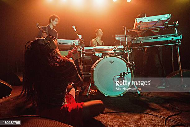 Teri Gender Bender of the Bosnian Rainbows performs on stage at the Crocodile on September 17 2013 in Seattle Washington