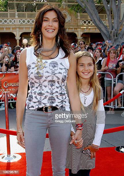 Teri Hatcher and daughter Emerson Rose during 'Pirates of the Caribbean At World's End' World Premiere Arrivals at Disneyland in Anaheim California...