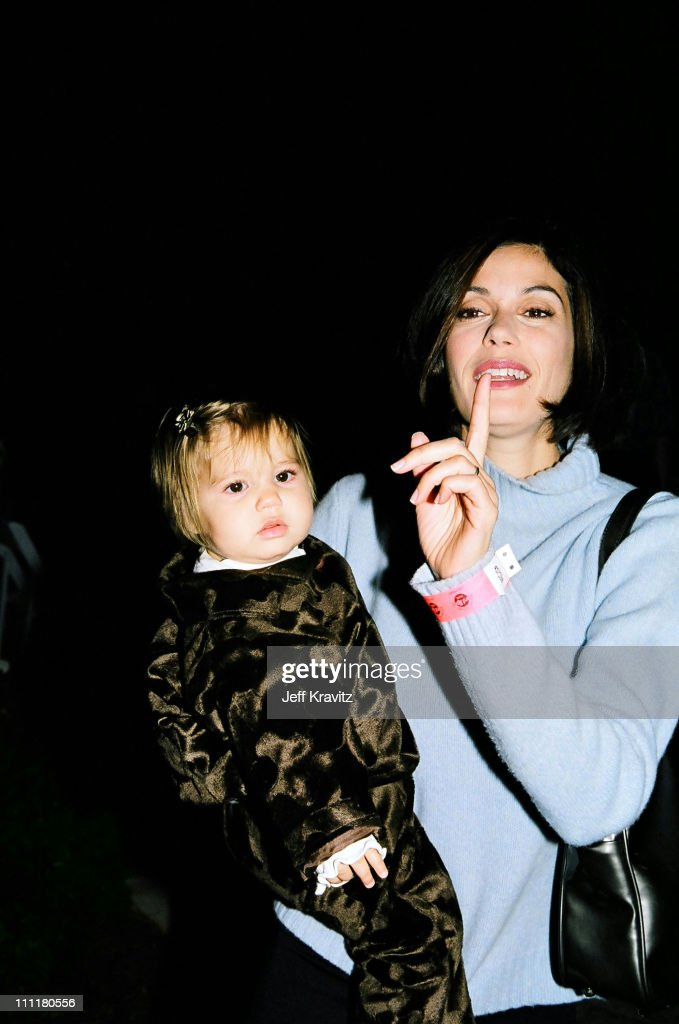 Teri Hatcher and daughter Emerson Rose Tenney during 1998 Fairway to Heaven Golf Tournament in Las Vegas, Nevada, United States.