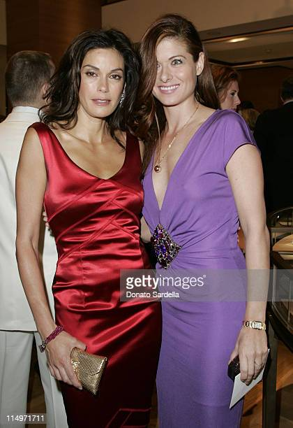 Teri Hatcher and Debra Messing during Cartier Celebrates 25 Years in Beverly Hills at Cartier Boutique in Beverly Hills California United States