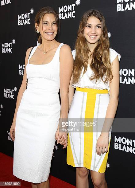 Teri Hatcher and Emerson Hatcher arrive at the Montblanc preOscar brunch celebrating Princesse Grace De Monaco Collection held at Bel Air Hotel on...