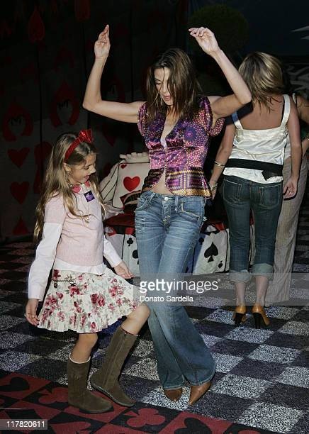 Teri Hatcher and Emerson Rose during Disney's Alice in Wonderland Mad Tea Party at Private Residence in Los Angeles California United States