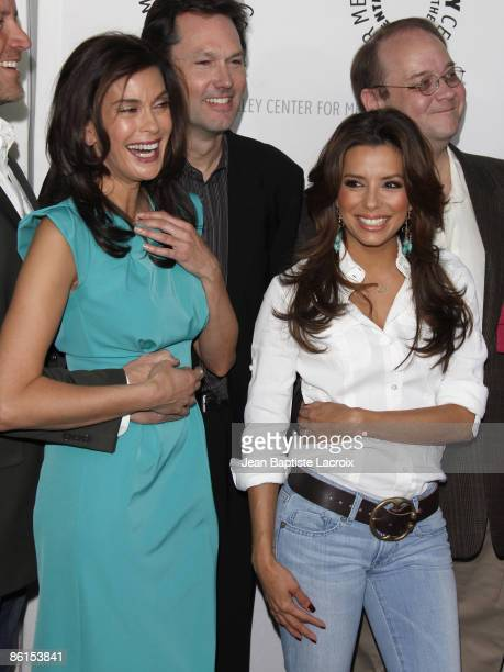 Teri Hatcher and Eva Longoria Parker arrive at the ''Desperate Housewives'' event during PaleyFest09 at the ArcLight Theaters on April 18 2009 in Los...