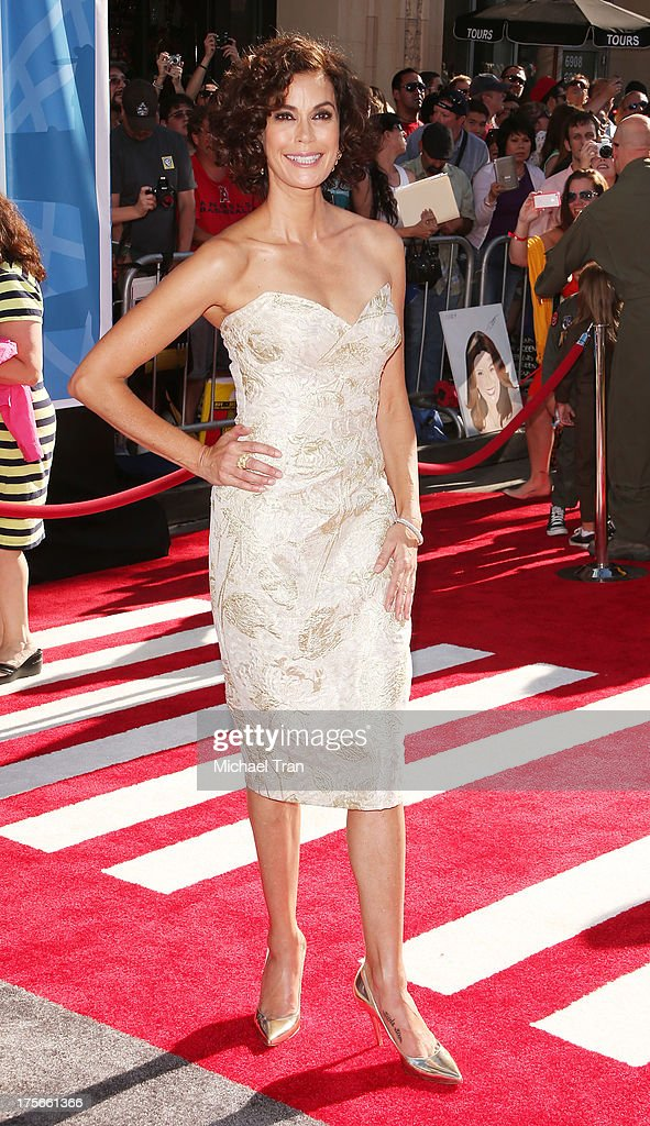 Teri Hatcher arrives at the Los Angeles premiere of 'Planes' held at the El Capitan Theatre on August 5, 2013 in Hollywood, California.