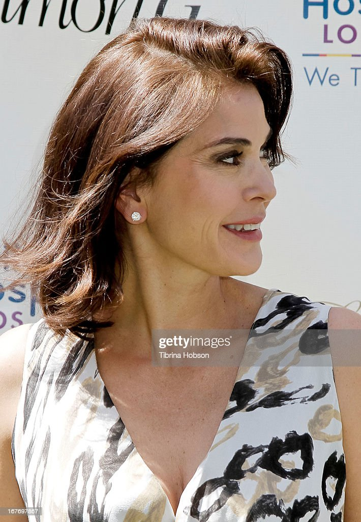 <a gi-track='captionPersonalityLinkClicked' href=/galleries/search?phrase=Teri+Hatcher&family=editorial&specificpeople=202145 ng-click='$event.stopPropagation()'>Teri Hatcher</a> attends the celebrity yard sale and auction benefiting Juvenile Arthritis Association at The Americana at Brand on April 27, 2013 in Glendale, California.