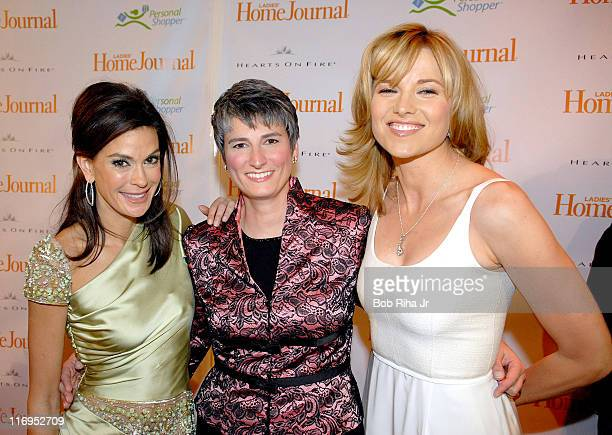 Teri Hatcher Diane Salvatore and Lucy Lawless during Third Annual 'Funny Ladies We Love' Awards Hosted By Ladies' Home Journal at Cabana Club in...