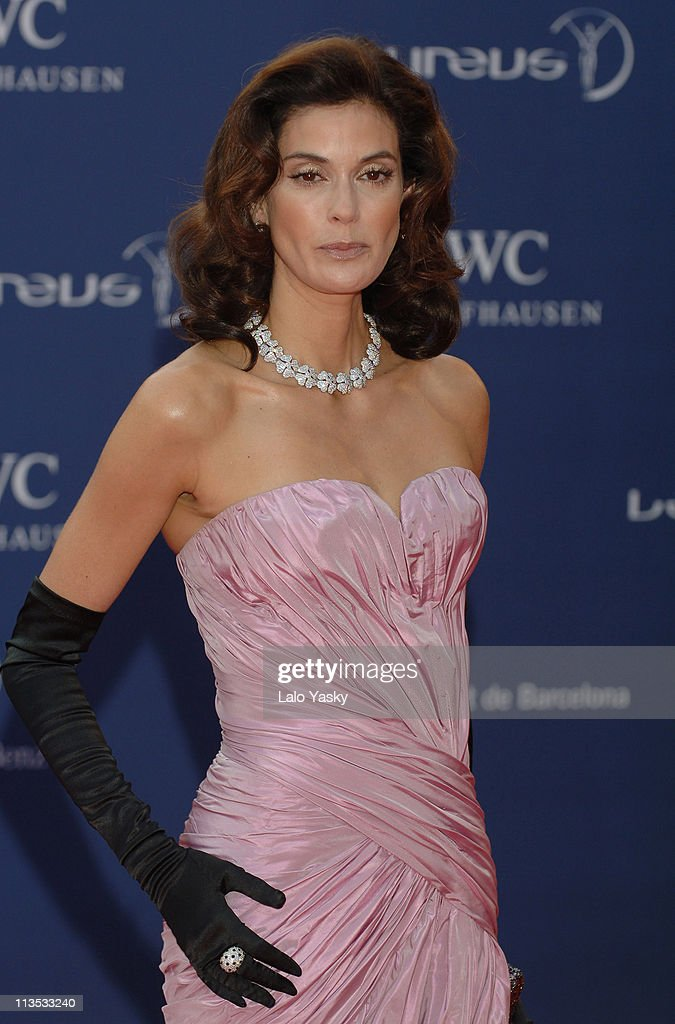 Teri Hatcher during 2006 Laureus World Sports Awards - Red Carpet Arrivals in Barcelona, Spain.