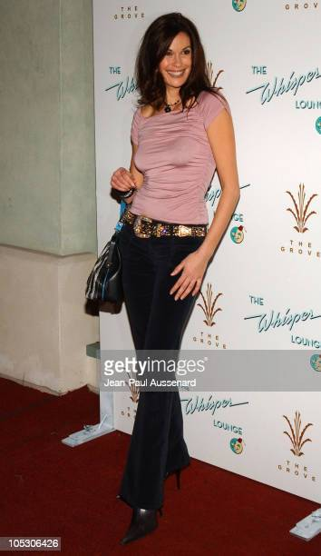 Teri Hatcher during Grand Opening of 'The Whisper Lounge' hosted by LA Confidential Patron Tequila Finlandia Vodka and Evian at The Grove in Los...