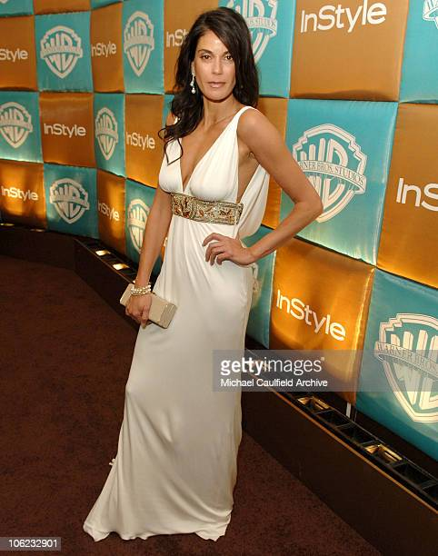 Teri Hatcher during In Style and Warner Bros 2007 Golden Globe After Party Red Carpet at Beverly Hilton Hotel in Beverly Hills California United...