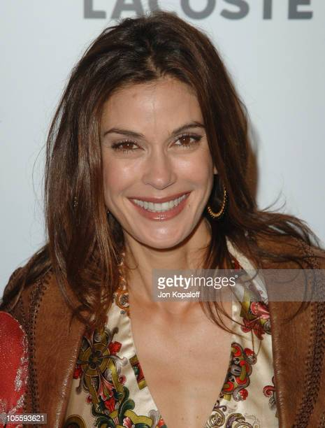 Teri Hatcher during LaCoste and Barneys New York Unveil Celebrity Customized Polos at Barneys in Beverly Hills California United States