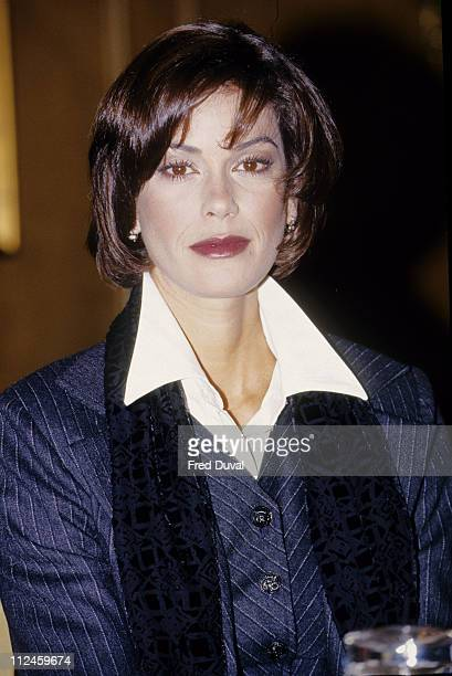 Teri Hatcher during Teri hatcher and Husband Jon Tenney File at London in London Great Britain