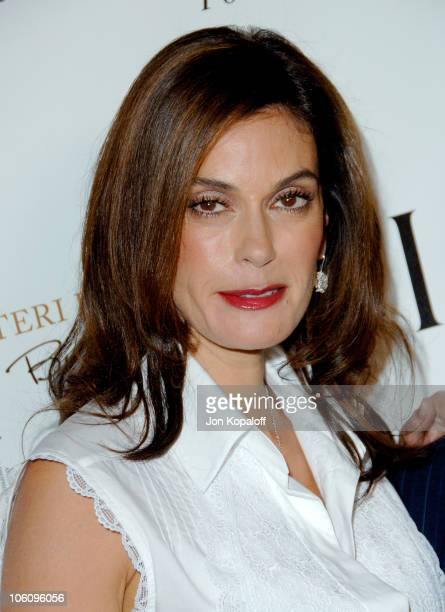 Teri Hatcher during Teri Hatcher Party for Her Book 'Burnt Toast' Arrivals at AQUA Restaurant in Beverly Hills California United States