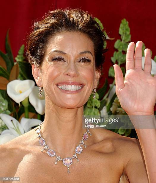 Teri Hatcher during The 57th Annual Emmy Awards Arrivals at Shrine Auditorium in Los Angeles California United States