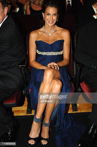 Teri Hatcher *Exclusive Coverage* during 57th Annual Primetime Emmy Awards Backstage Audience and Architectural Digest Green Room at The Shrine in...