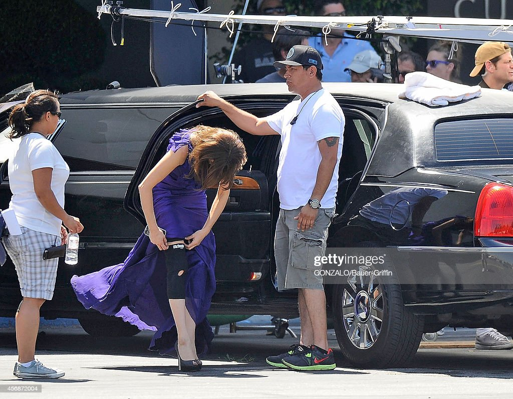 Teri Hatcher is seen on movie set of 'Desperate Housewives' on April 18 2012 in Los Angeles California