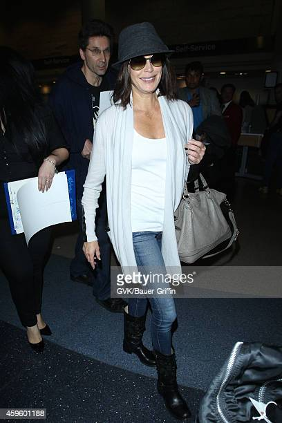 Teri Hatcher seen at LAX on November 25 2014 in Los Angeles California