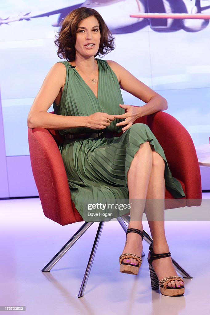 Teri Hatcher takes part in a webchat to promote her new film 'Planes' on July 17, 2013 in London, England.