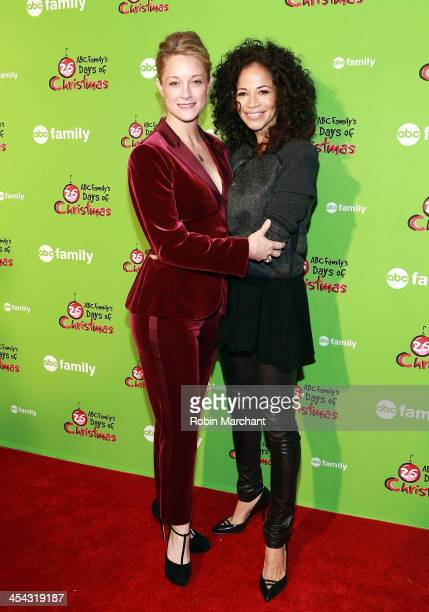 Teri Polo and Sherri Saum attend 25 Days Of Christmas Winter Wonderland event at Rockefeller Center on December 8 2013 in New York City