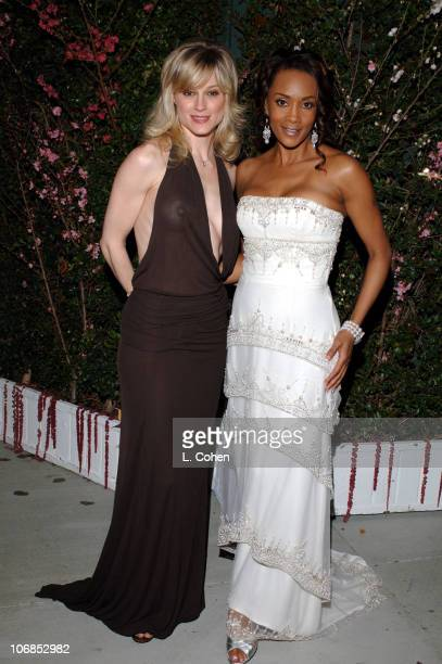 Teri Polo and Vivica A Fox during 13th Annual Elton John AIDS Foundation Oscar Party Cohosted by Chopard After Party at Pacific Design Center in West...