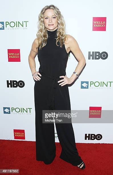 Teri Polo arrives at the Point Foundation's Voices On Point gala held at the Hyatt Regency Century Plaza on October 3 2015 in Century City California