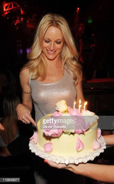 Teri Polo celebrates her birthday at Prive Las Vegas on June 20 2009 in Las Vegas Nevada