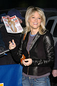Teri Polo during Teri Polo Appears Outside Late Show with David Letterman at Ed Sullivan Theater in New York New York United States