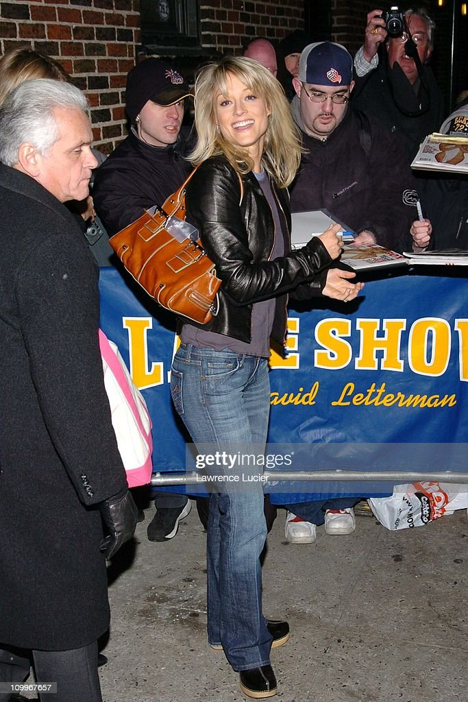 Teri Polo Appears Outside Late Night with David Letterman