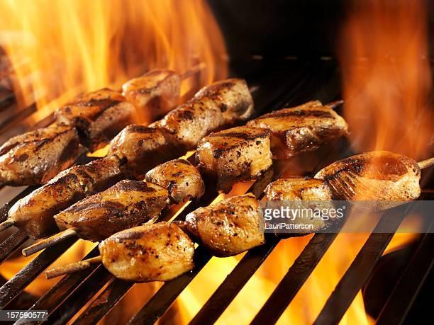 Barbecue au poulet Teriyaki kebabs