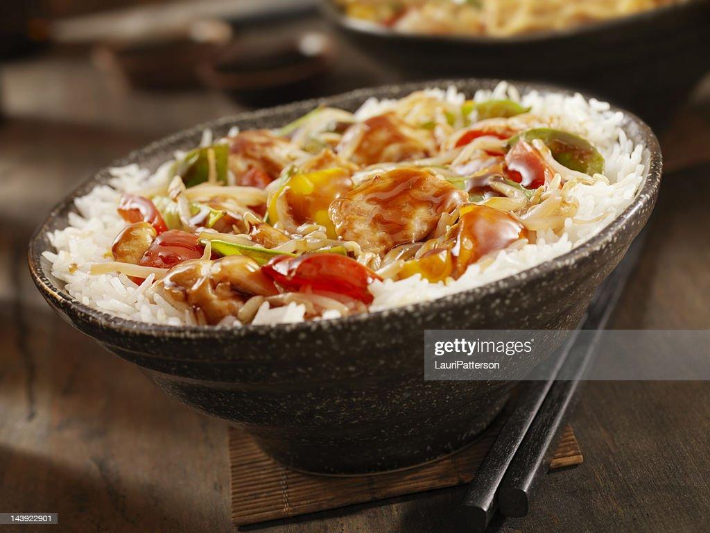 Teriyaki Chicken Stir fry : Stock Photo