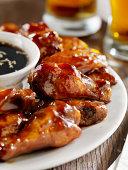 Teriyaki Chicken Wings and Beer