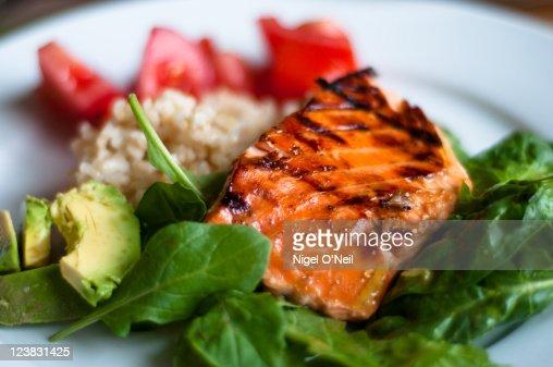BBQ teriyaki salmon : Stock Photo