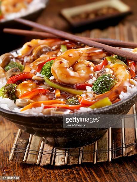 Teriyaki Shrimp Rice Bowl