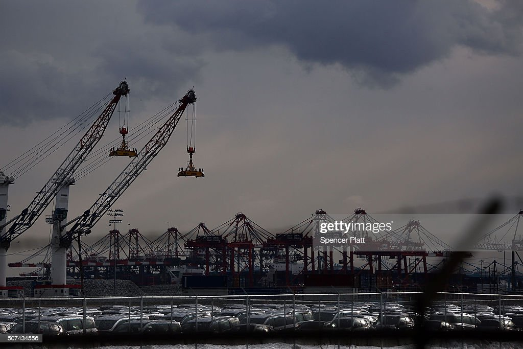 A terminal at the Port of Newark stands near where longshoremen walked off the job at the port terminals in New Jersey and Staten IslandFriday...