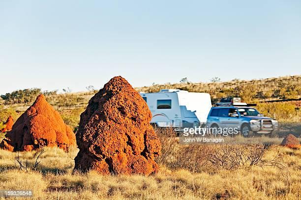 Termite mounds , Western Australia
