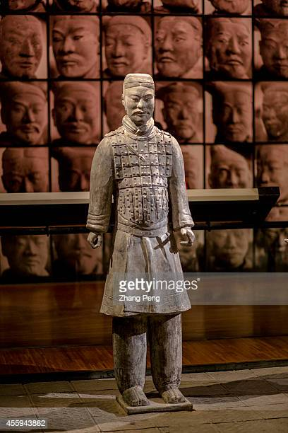 XI'AN SHAANXI CHINA A Terra Cotta Warrior exhibited in Shanxi history museum The Terra Cotta Warriors and Horses are the most significant...