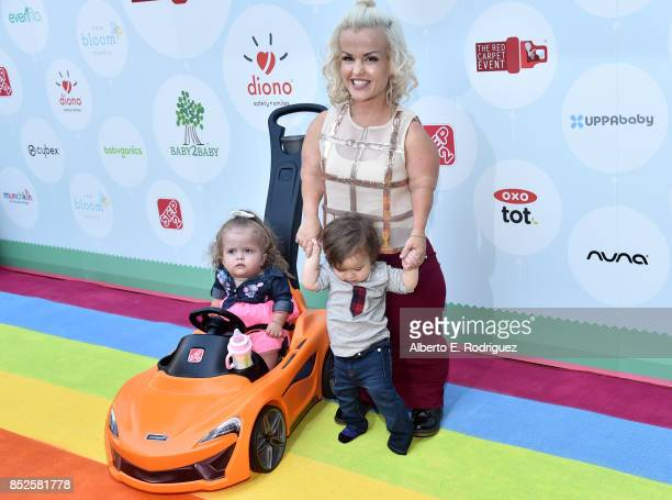 Terra Jole Penelope Gnoffo and Grayson Gnoffo at Step 2 Presents 6th Annual Celebrity Red CARpet Safety Awareness Event on September 23 2017 in...
