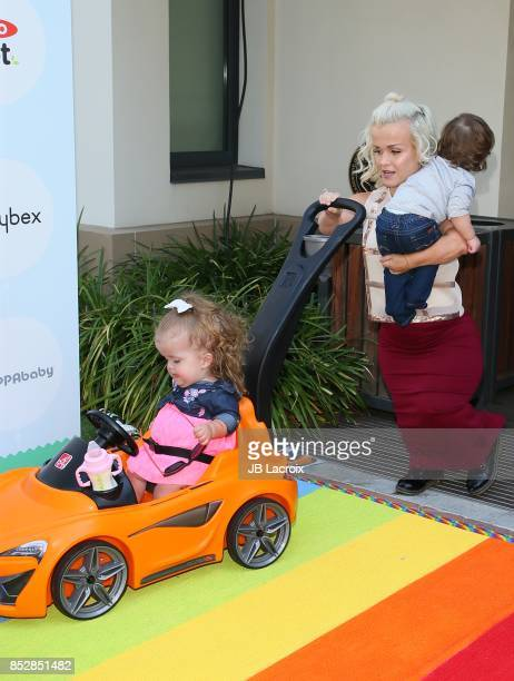 Terra Jole Penelope Gnoffo and Grayson Gnoffo attend the 6th Annual Celebrity Red CARpet Safety Awareness Event on September 23 2017 in Culver City...